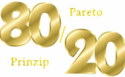 Pareto Prinzip - 80/20 Regel